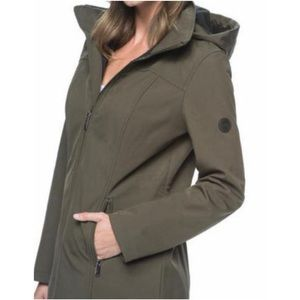 Andrew Marc Women's Long Softshell Hooded Jacket